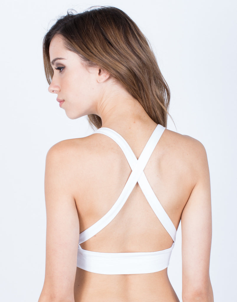 Back View of Strappy Lightweight Bralette