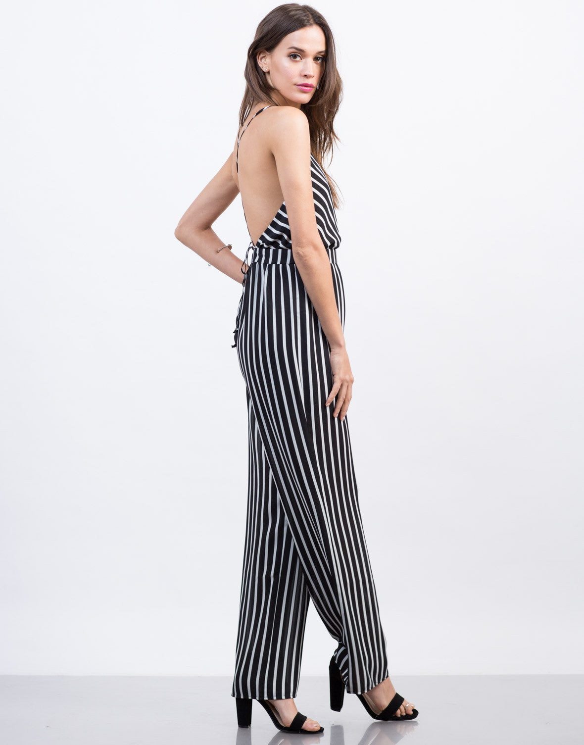Strappy Striped Jumpsuit - 2020AVE