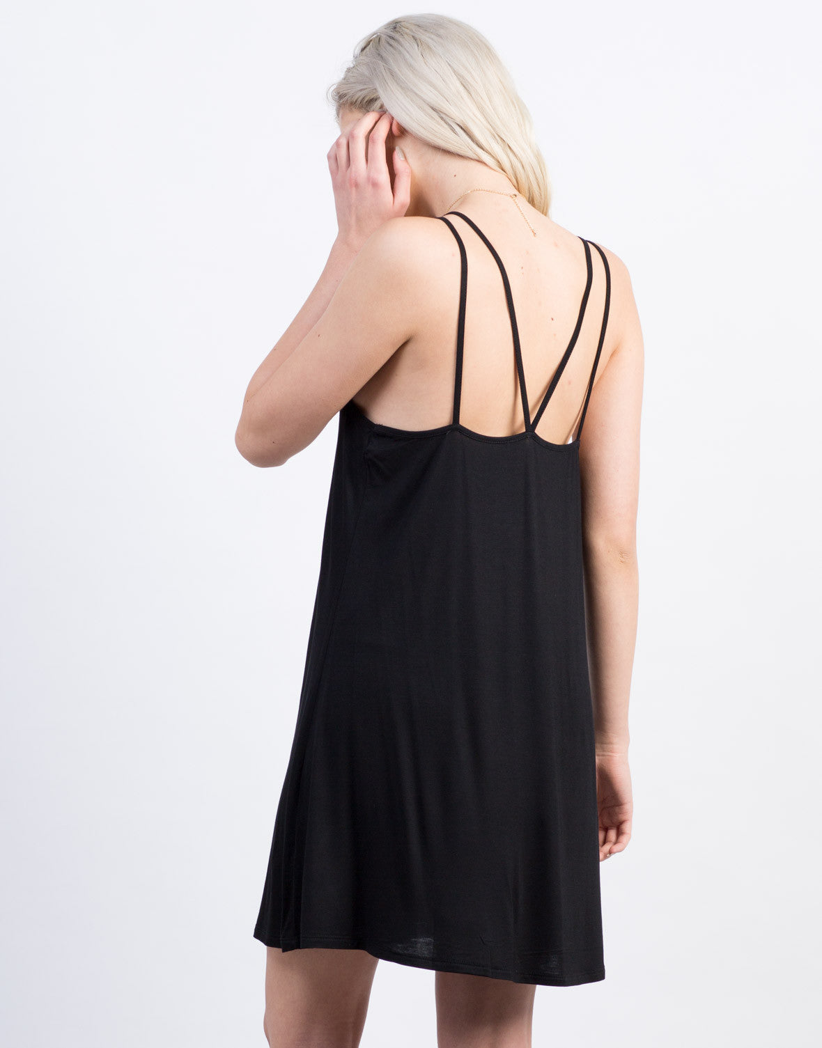 Back View of Strappy Tank Dress