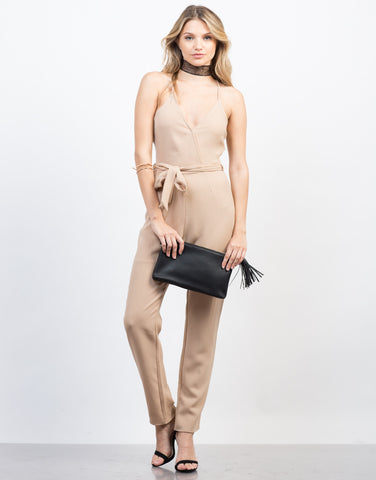Strappy Tie Up Jumpsuit