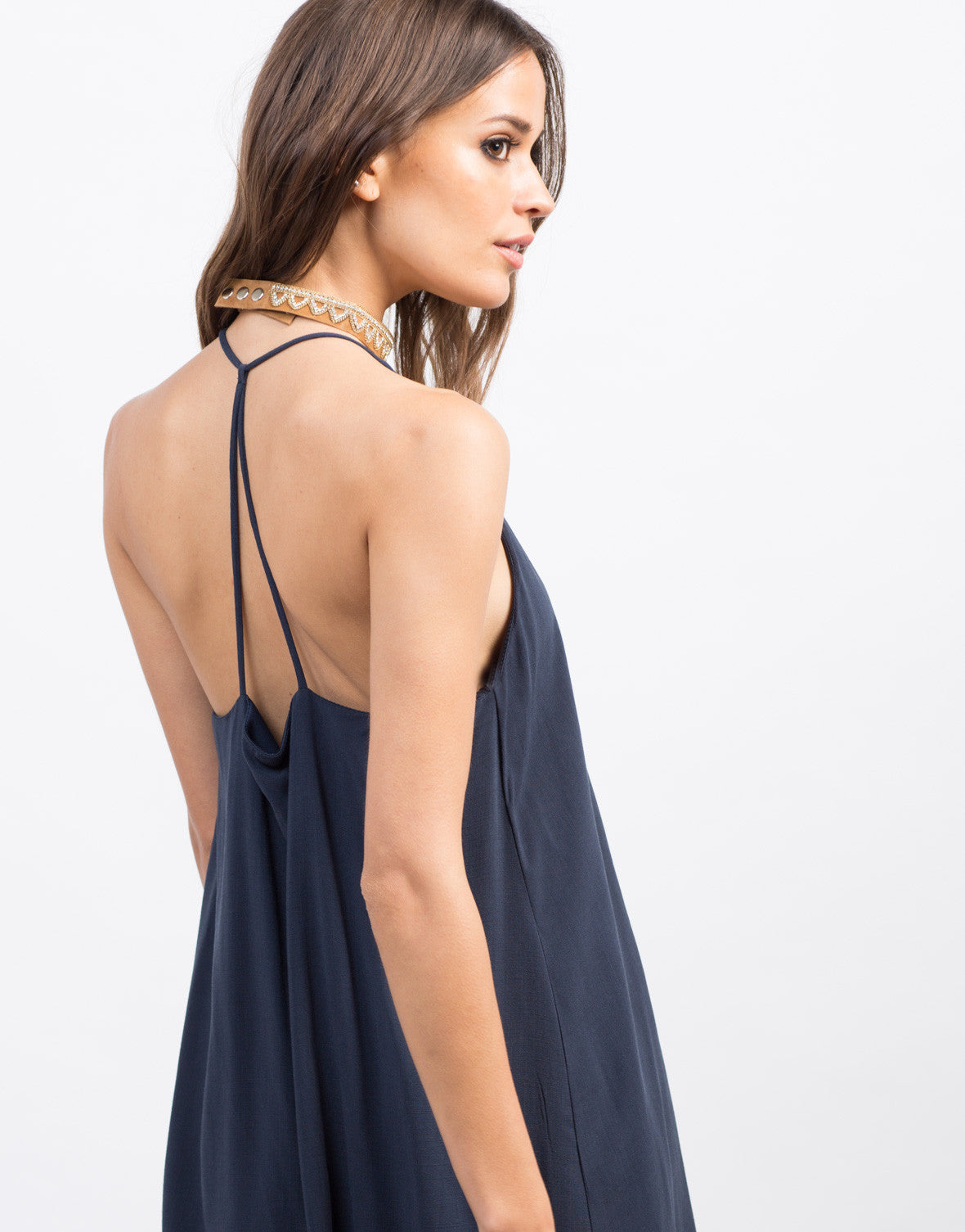 Detail of Strappy Woven Cami Dress