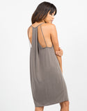Back View of Strappy Back Drapey Dress