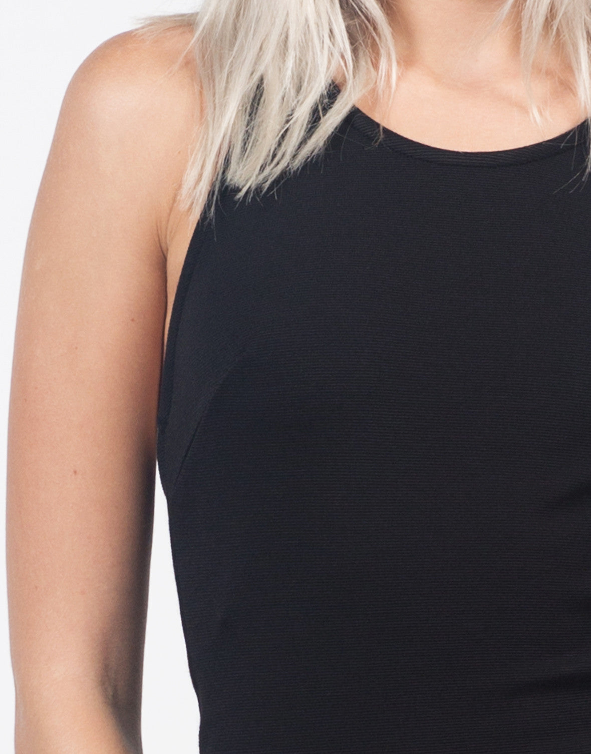 Detail of Strappy Back Textured Dress