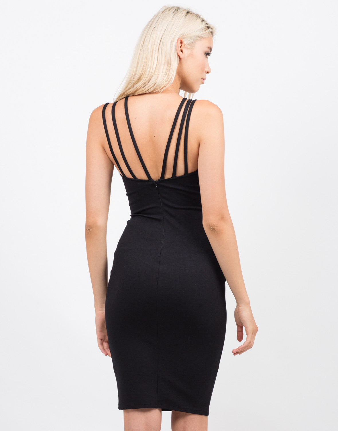 Back View of Strappy Bodycon Dress