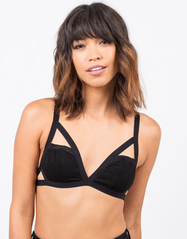Front View of Strappy Bralette