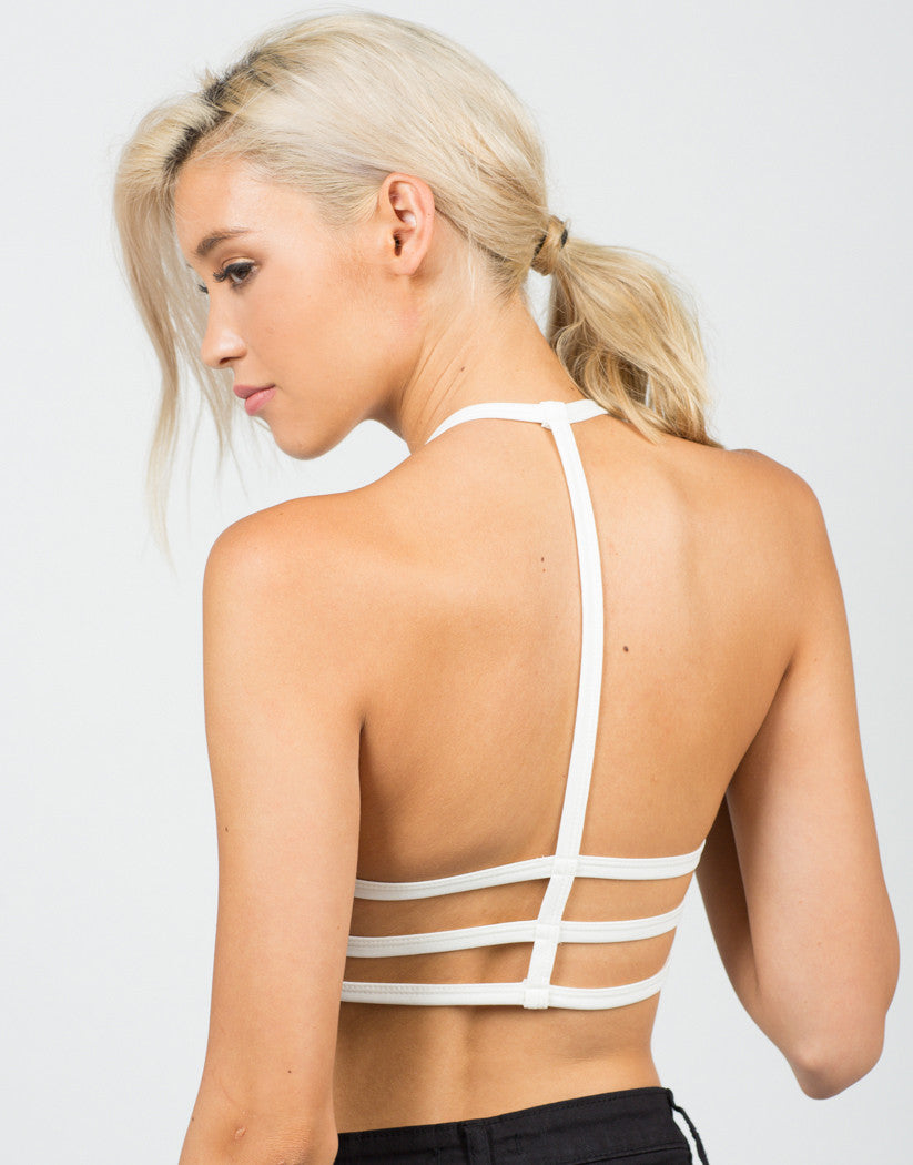 Back View of Strappy Caged Bralette