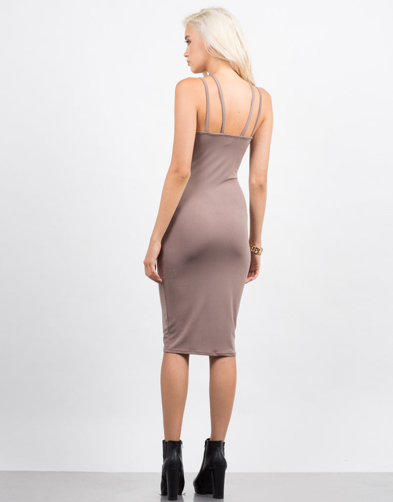 Strappy Caged Midi Dress - 2020AVE
