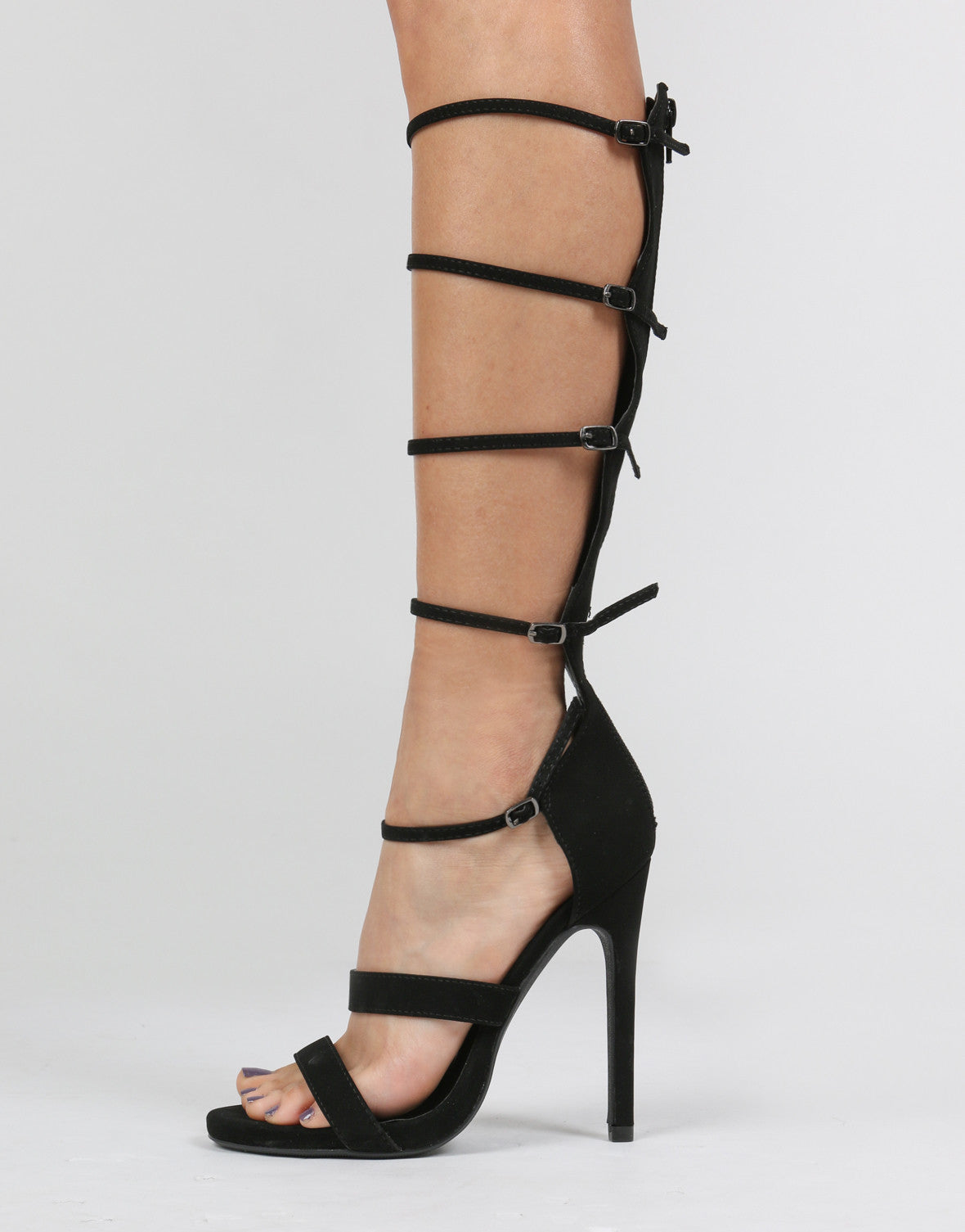 Strappy Caged Stiletto Heels - 2020AVE