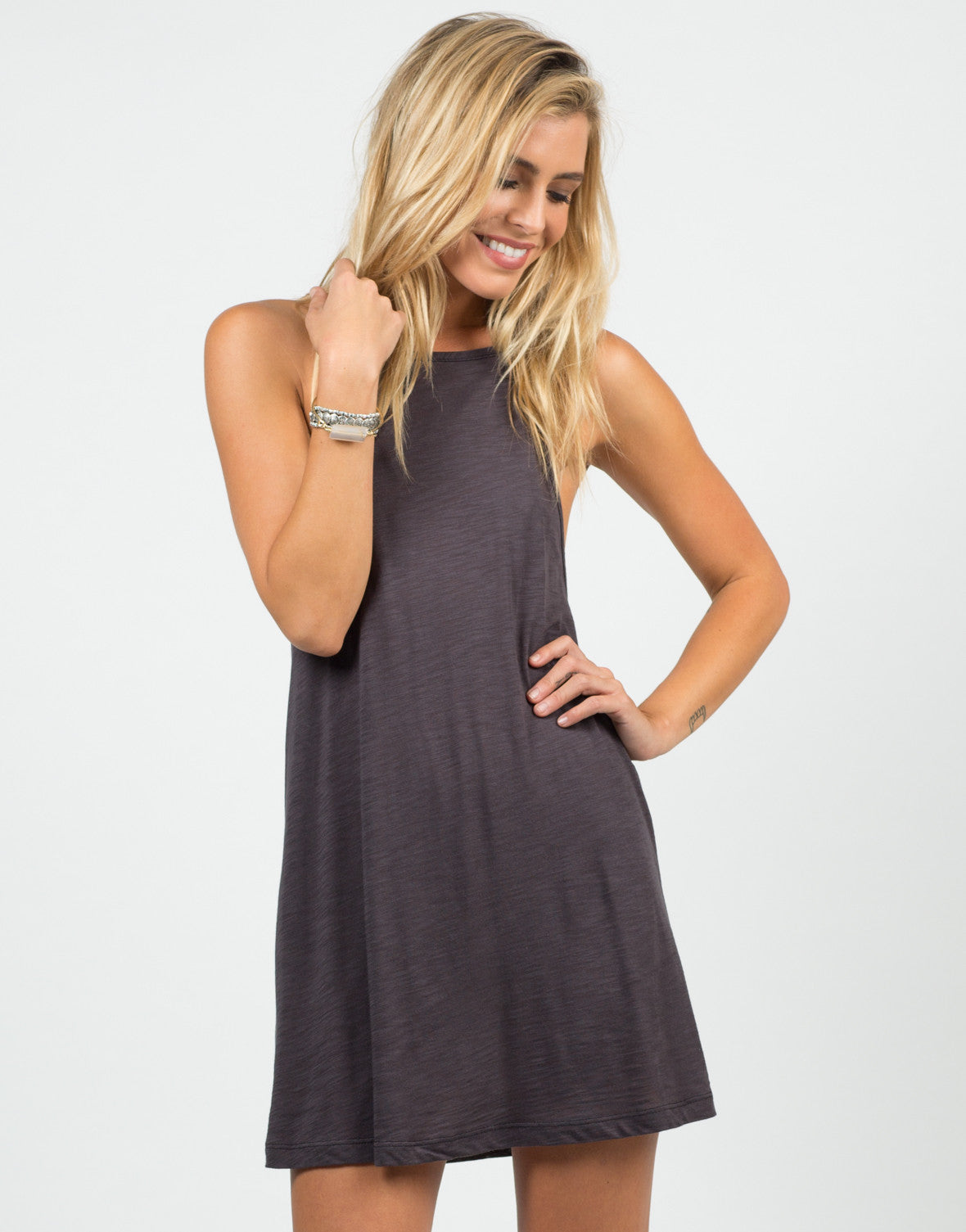 Front View of Strappy Cami Dress