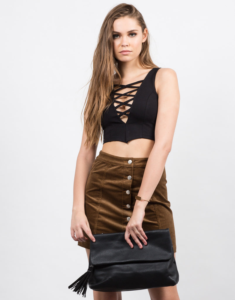 Strappy Dip Crop Top - 2020AVE
