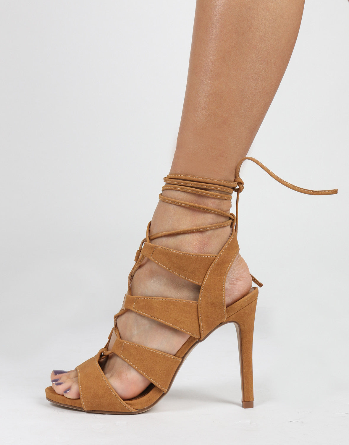 Strappy Lace Up Heels