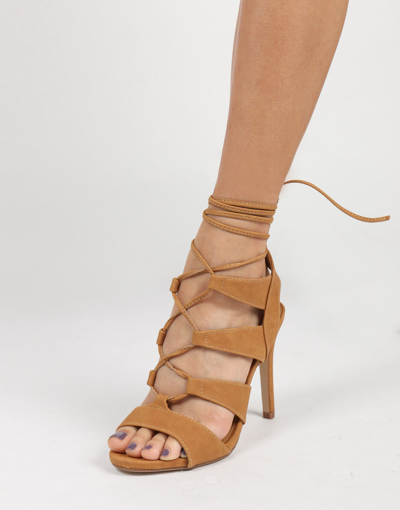 Strappy Lace Up Heels - 2020AVE