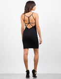 Back View of Strappy Little Black Dress