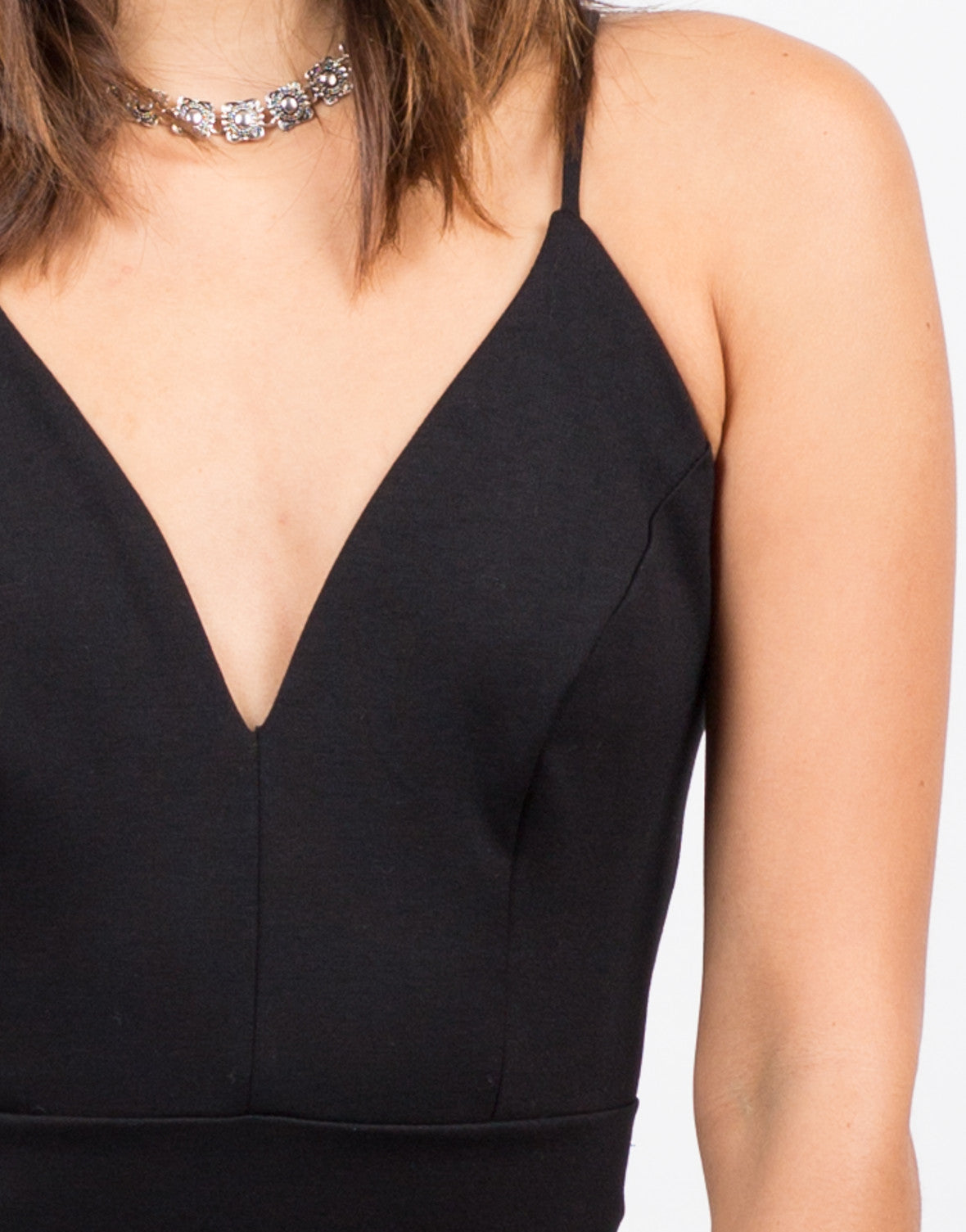 Detail of Strappy Little Black Dress
