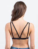 Back View of Strappy Mesh Bralette