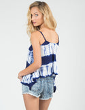 Back View of Strappy Tie-Dye Top