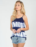 Front View of Strappy Tie-Dye Top