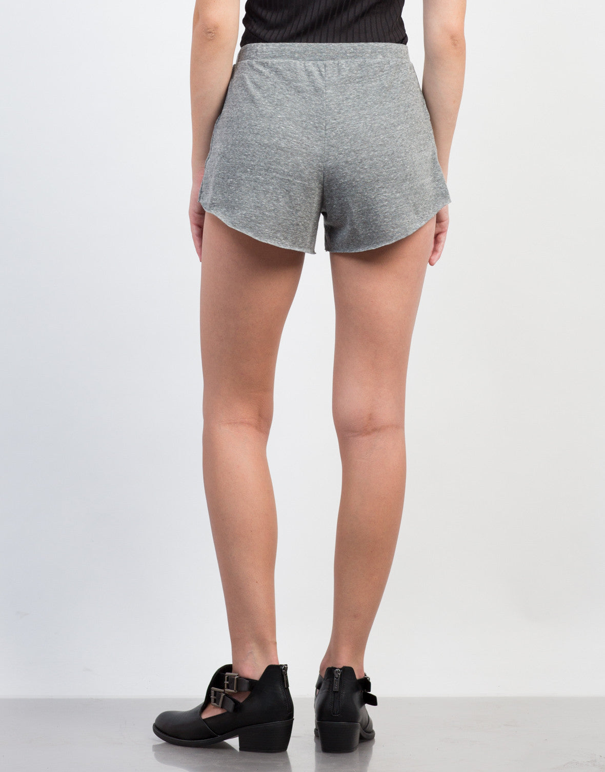 Back View of Stretch and Flow Casual Shorts
