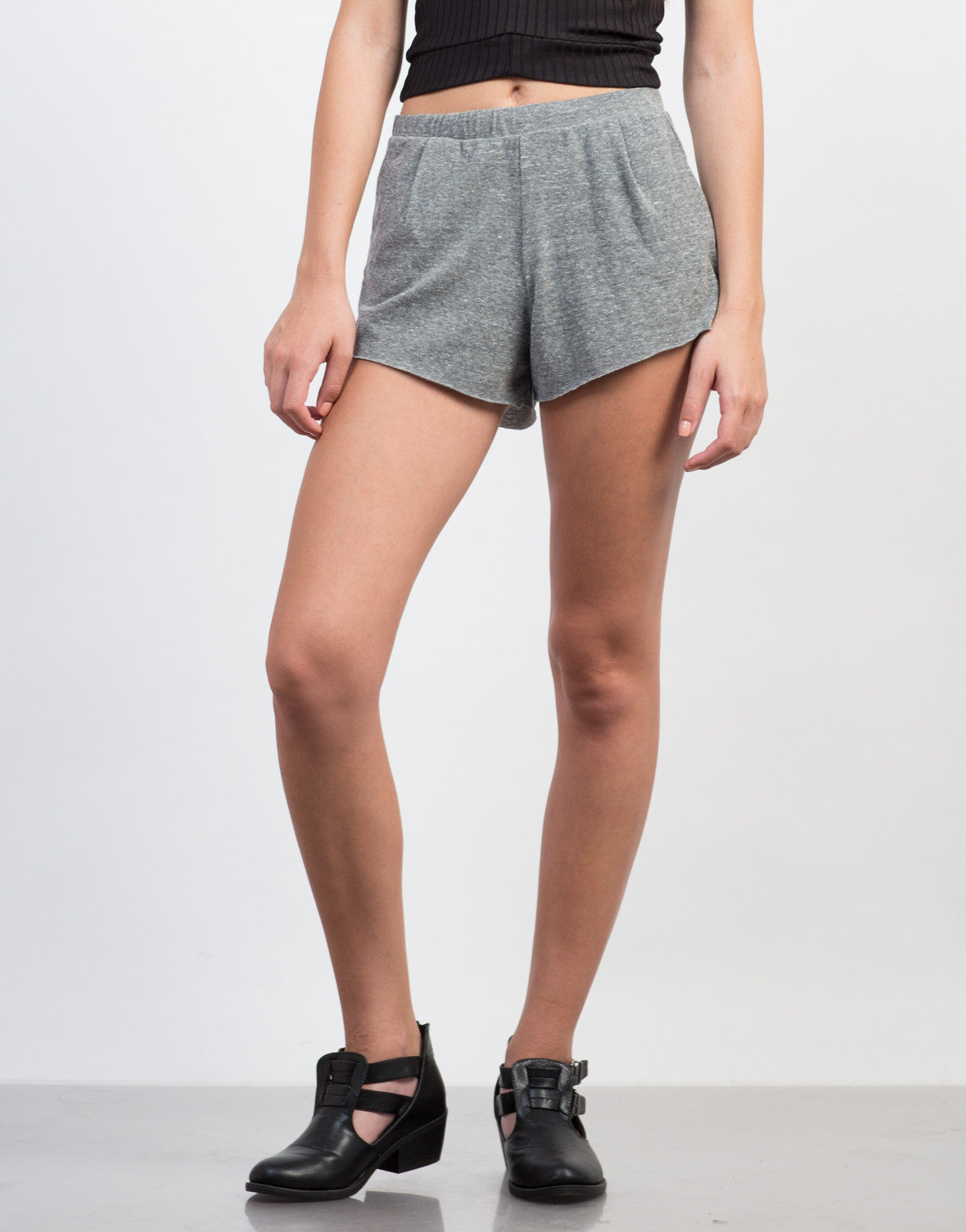 Front View of Stretch and Flow Casual Shorts