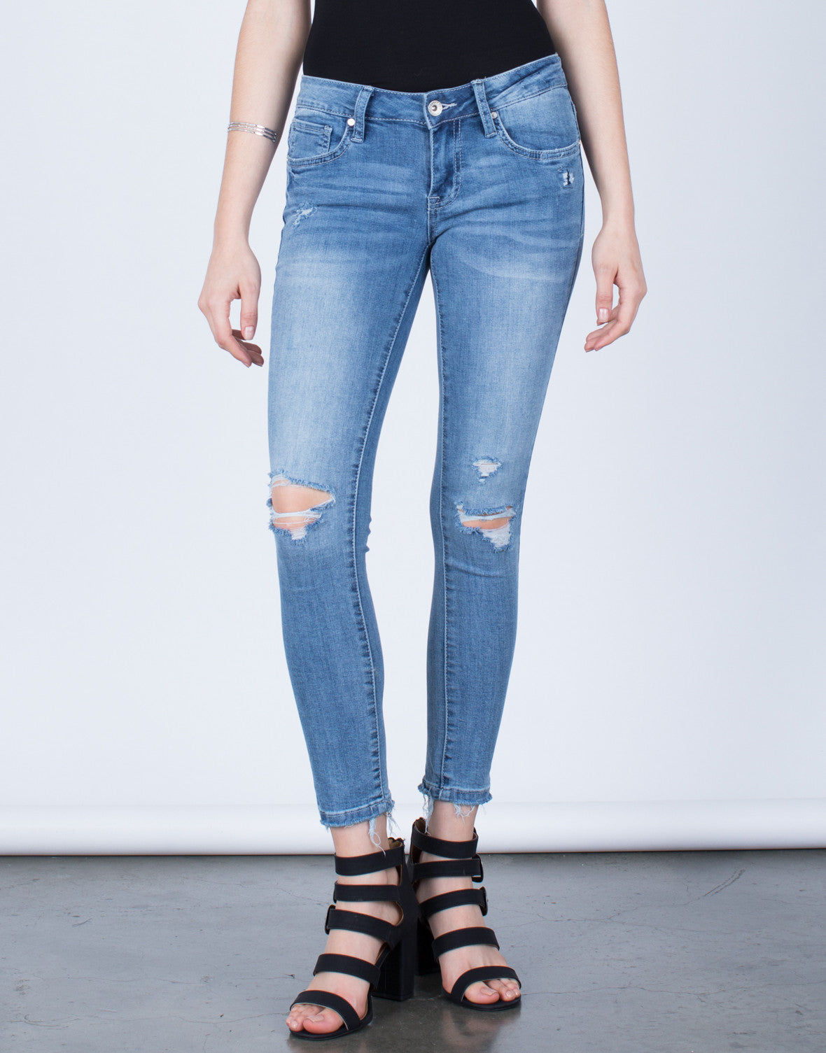 Stretchy Distressed Jeans