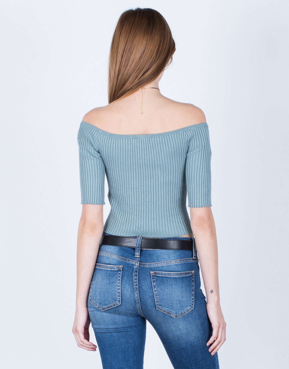 Stretchy Ribbed Crop Top - 2020AVE