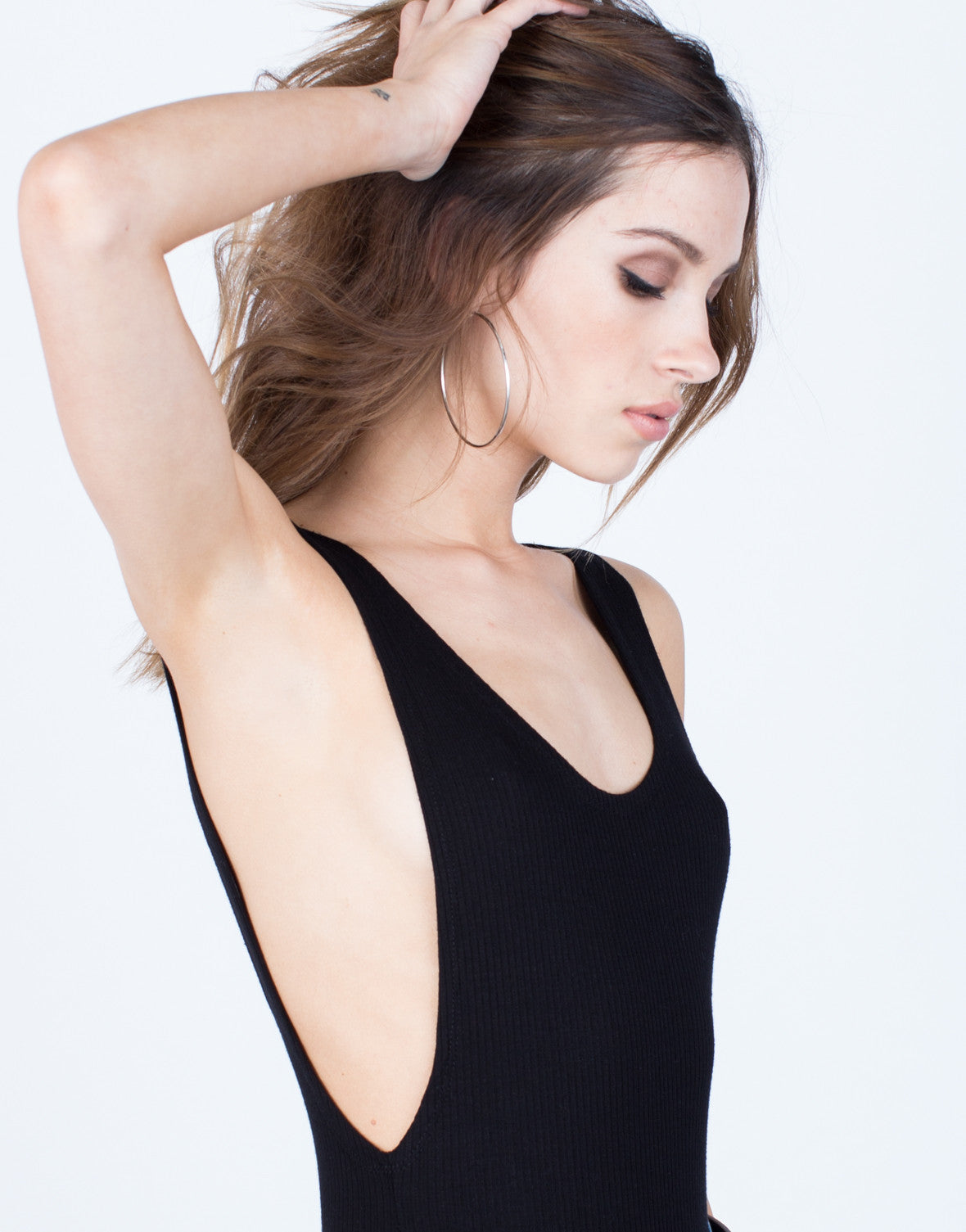 Detail of Stretchy Scoop Back Bodysuit