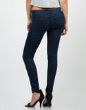 Back  View of Stretchy Navy Jeggings