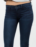 Detail of Stretchy Navy Jeggings