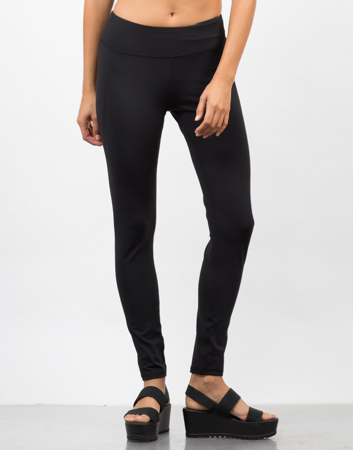 Front View of Stretchy Yoga Leggings