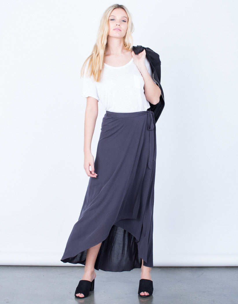 Front View of Strike a Pose Wrap Skirt