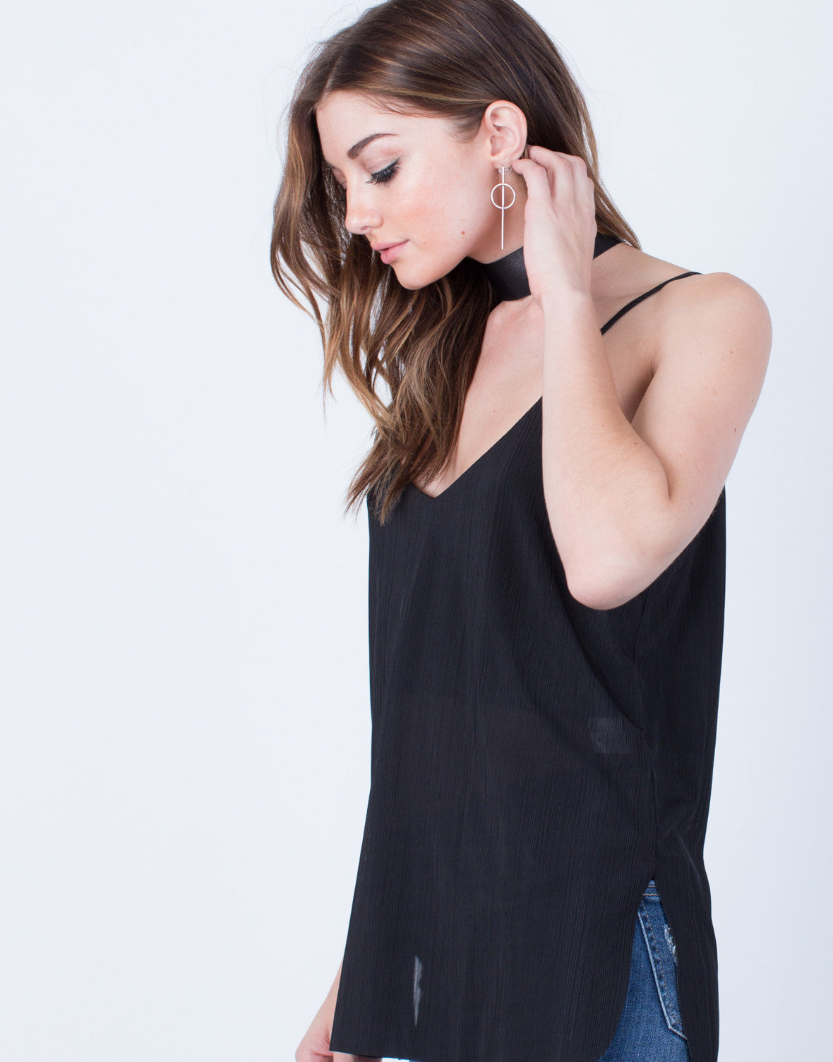 Stripe Textured Cami Top - 2020AVE