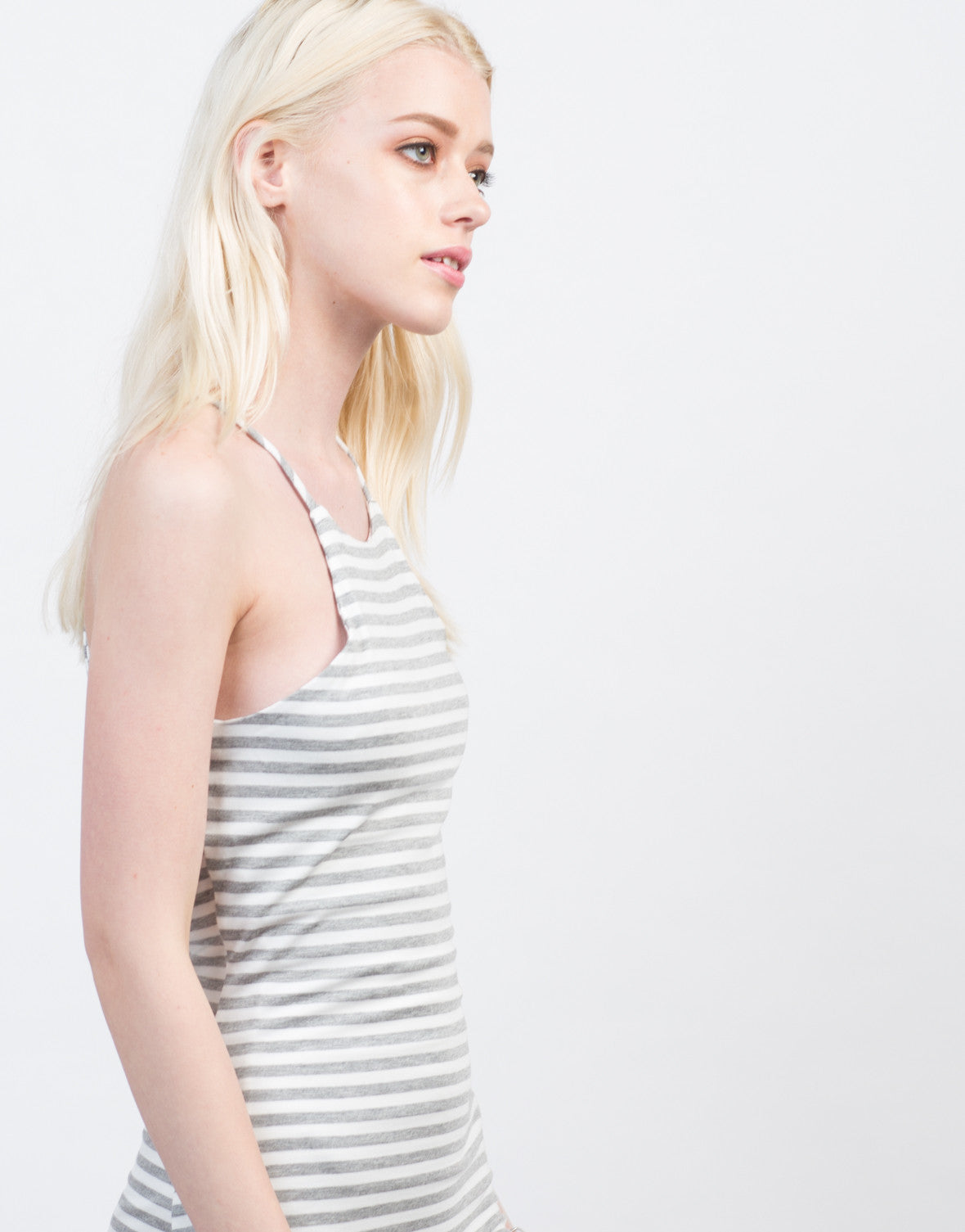 Detail of Striped Bodycon Cami Dress