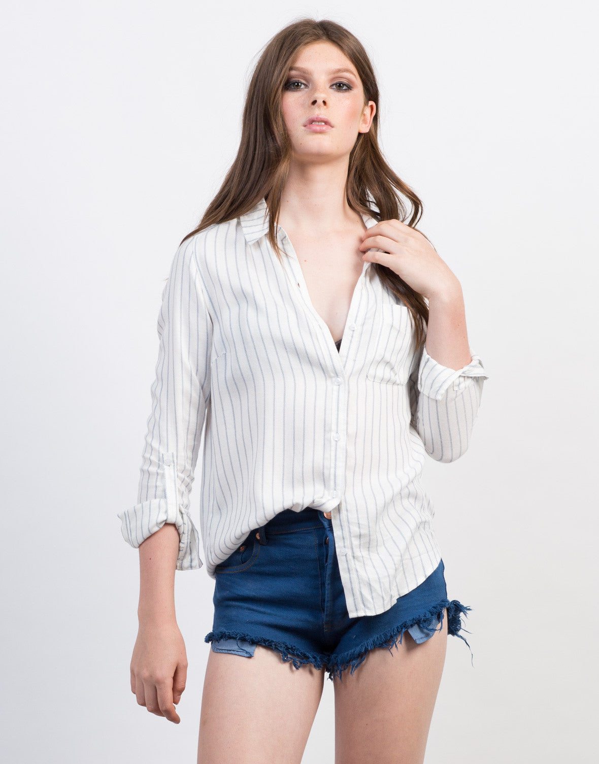 Striped Pocket Blouse