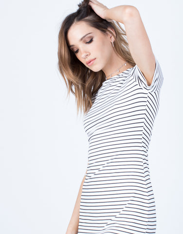 Detail of Striped Tee Dress