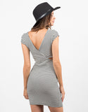 Back View of Striped Cross Back Dress