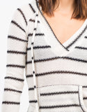 Detail of Striped Hoodie Sweater Top