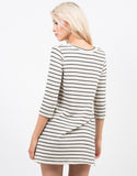 Back View of Striped Knit Dress