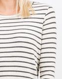 Detail of Striped Knit Dress
