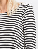 Detail of Striped Long Sleeve Flare Dress