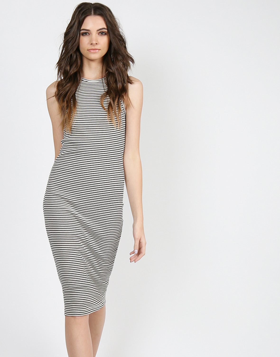 Striped Midi Tank Dress