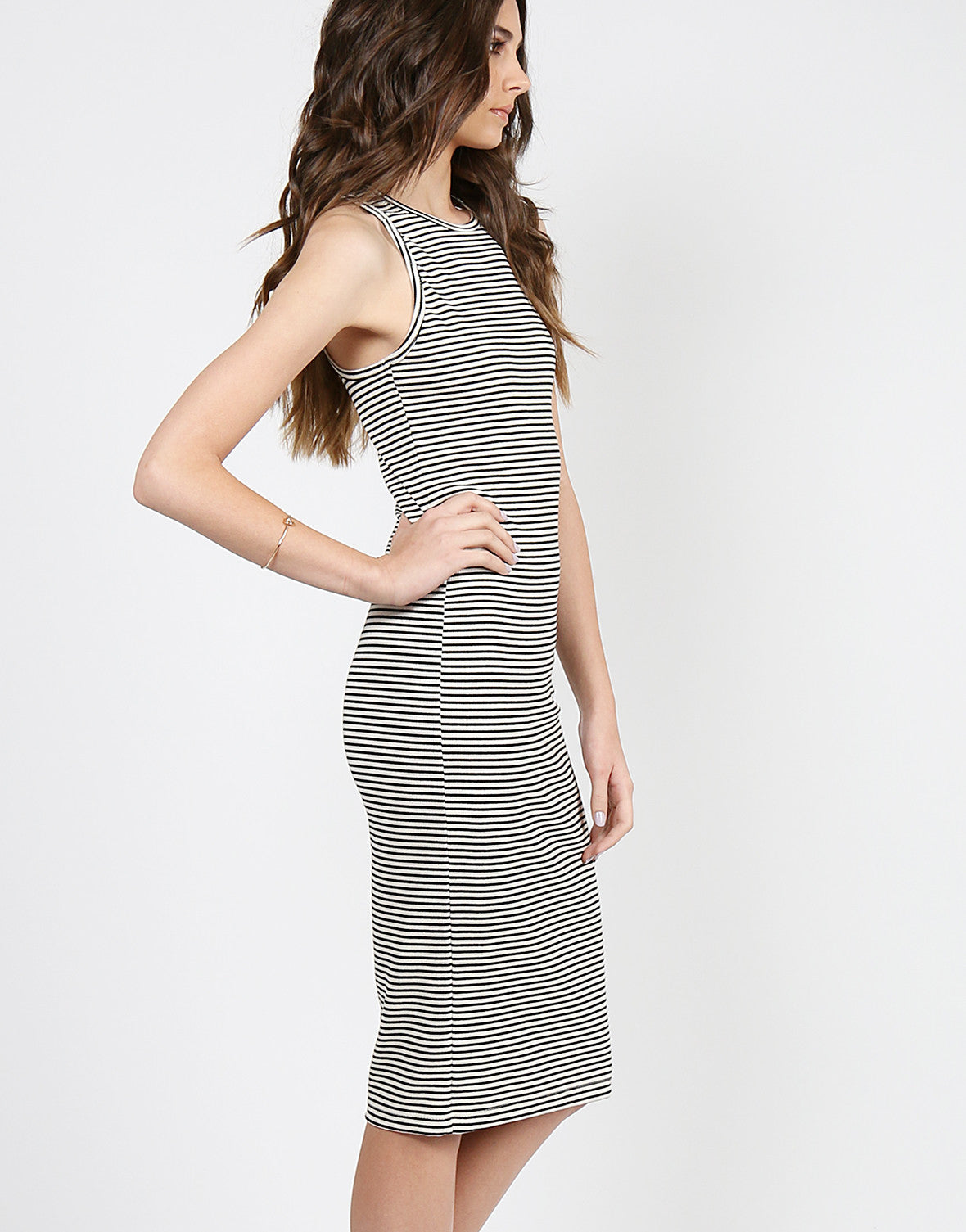 Striped Midi Tank Dress - Large – 2020AVE
