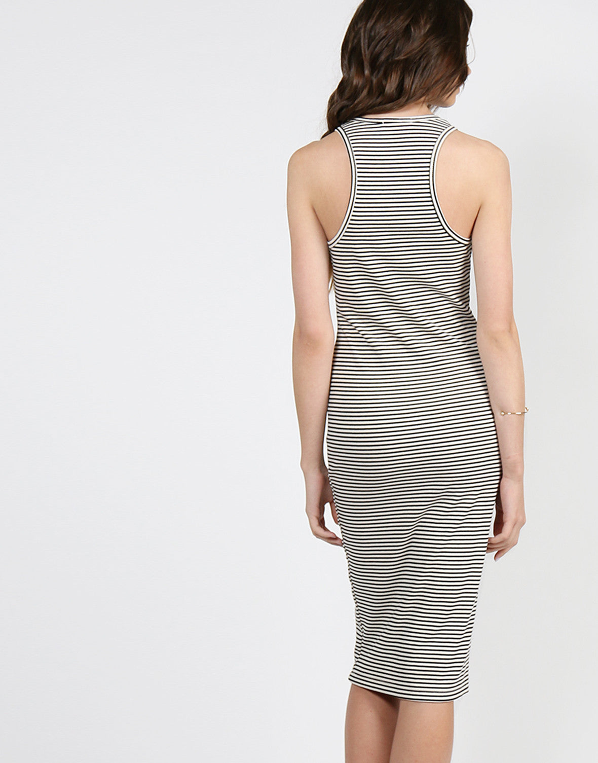 Striped Midi Tank Dress - Large - 2020AVE