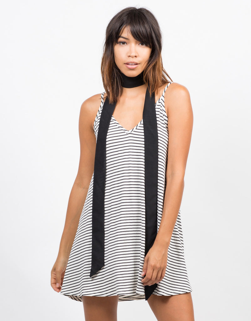 Striped Swing Cami Dress - 2020AVE