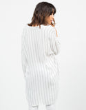 Back View of Striped Tunic Blouse