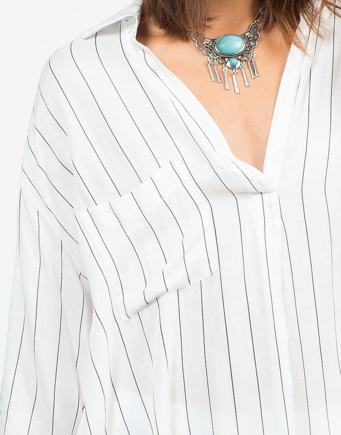 Detail of Striped Tunic Blouse