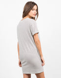 Back View of Striped Tunic Tee