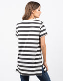 Back View of Striped Tunic Top