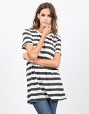 Front View of Striped Tunic Top