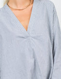 Detail of Striped V-Neck Shirt