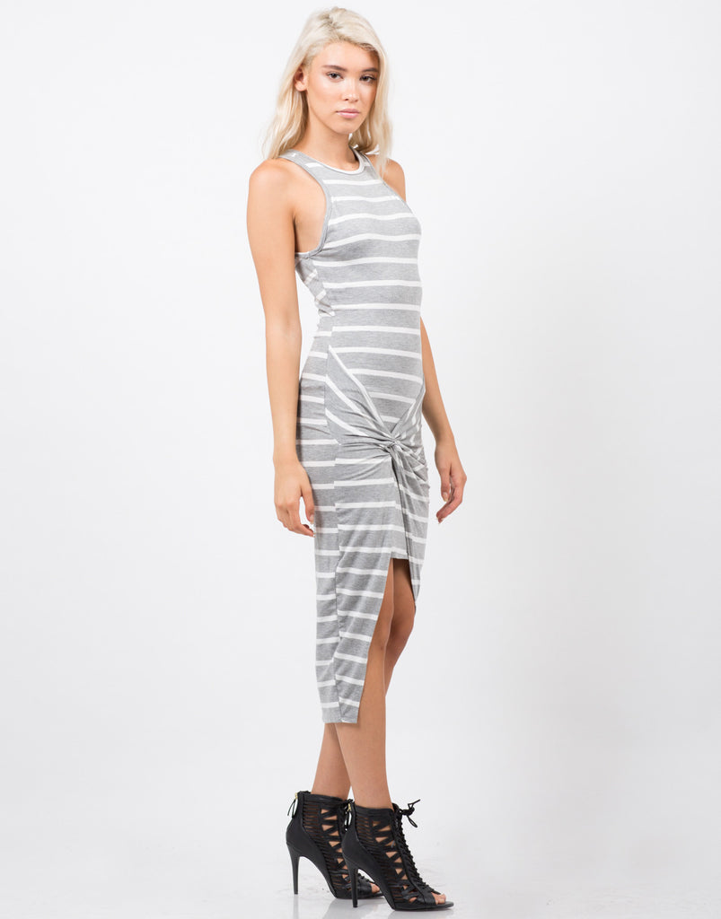 Stripe Knotted Dress - 2020AVE